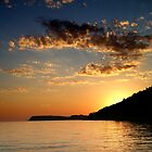 croatian sunset by Di Dowsett