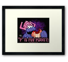 P is For Planet Framed Print