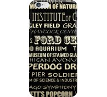 Chicago Illinois Famous Landmarks iPhone Case/Skin