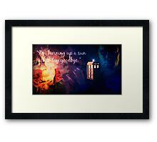 The Doctor and Rose Framed Print
