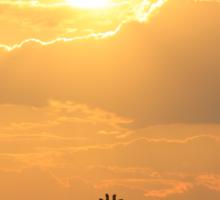Giraffe Silhouette - Golden Beauty Sticker