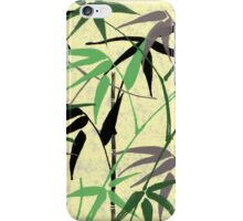 Bamboo Foliage - Stalks, Leaves - Green Yellow iPhone Case/Skin
