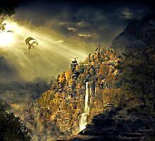 Dragon against man by MrNuTruT