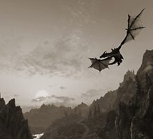 Skyrim dragon fly by MrNuTruT