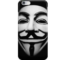 anonymous mask (V for Vendetta)  iPhone Case/Skin