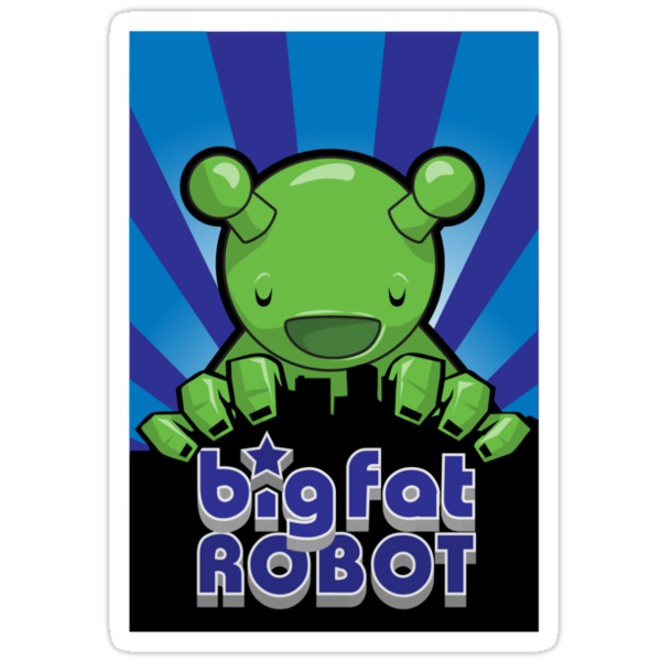 Big Fat Robot eats Melbourne - blue with logo by BigFatRobot