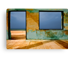Cafe with a view Canvas Print