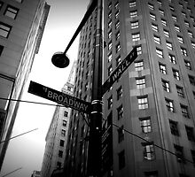 Wall Street and Broadway by nikkiandkatie