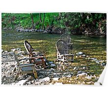 The Big Sur River Inn's Signiture Chairs Poster