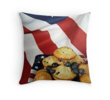 Red, White and Blueberry Throw Pillow