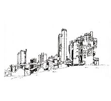 Gas Works Park Pen Sketching Photographic Print