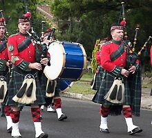 Anzac Day Pipe Band by Laura Moore
