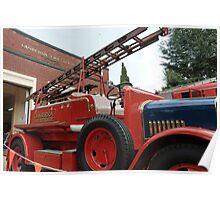 1928 Dennis Fire Engine - Canberra Fire Museum Poster