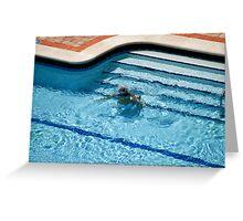 Woman in Pool Underwater Greeting Card