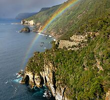 Waterfall Bluff Rainbow by Robert Mullner