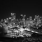 Sydney Nightlights BW by MiImages
