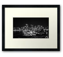 Sydney Nightlights BW Framed Print