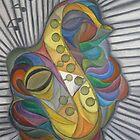 Saxophone Bird by Marinella  Owens