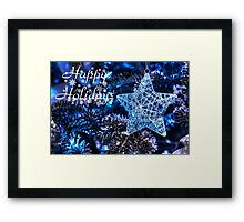Blue Christmas - Happy Holidays Framed Print