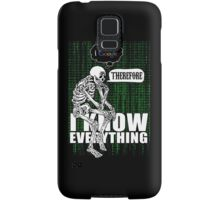 I google, therefore i know everything. Samsung Galaxy Case/Skin