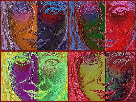 Collage - Colours of Heart by Anthea  Slade