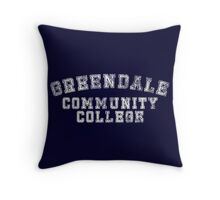 Greendale Community College (Distressed) Throw Pillow