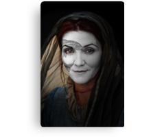 Catelyn Tully House Stark War Paint Canvas Print