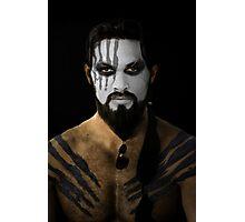Khal Drogo Dothraki King House War Paint Photographic Print