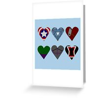 Avenger Hearts  Greeting Card