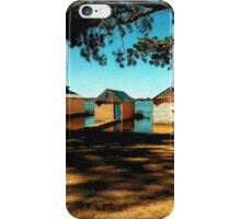 Views from the Lake II - Boathouses iPhone Case/Skin