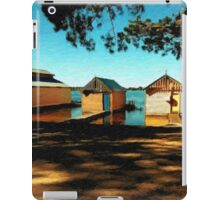 Views from the Lake II - Boathouses iPad Case/Skin