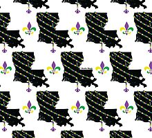 Louisiana Wrapped in Mardi Gras Beads 2.0 Pattern by StudioBlack