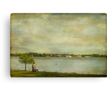Views from the Lake III - Gone Fishing Canvas Print