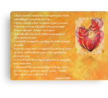 We Two Are One Prose Valentine Greeting Canvas Print