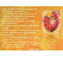 We Two Are One Prose Valentine Greeting Photographic Print