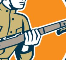 World War One Soldier American Retro Circle Sticker