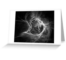 Black and White Fractal Greeting Card