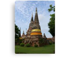 Buddhist Stupa with an Orange Ribbon Canvas Print