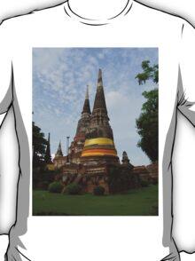 Buddhist Stupa with an Orange Ribbon T-Shirt