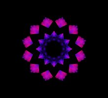 Dark Pink Kaleidoscope Mandala by TigerLynx