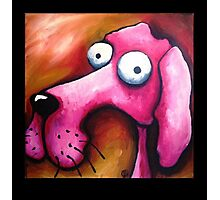 Crazy Pink Dog Photographic Print