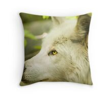 Artic Wolf - Forest of Wolves Series © Throw Pillow