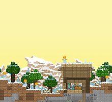 Video Game Platform Winter Piece by mattydraws