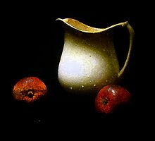 Old Pitcher with Apples by suzannem73
