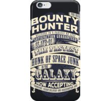 Space Bounty Hunter For Hire iPhone Case/Skin