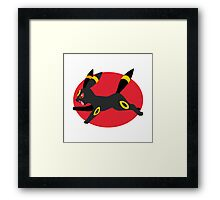 Umbreon - 2nd Gen - Leaping Framed Print