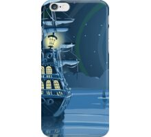 Nocturnal Adventure Island with Pirate Galleon Anchored iPhone Case/Skin