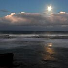 Full moon from ILUKA Bluff. by Norman Winkworth