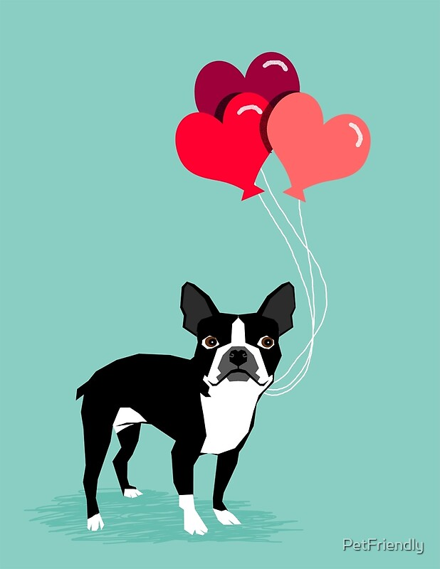 Quot Boston Terrier Valentines Love Balloons Gifts For Dog
