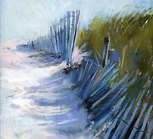 Shadows and Rhythm  (Seashore)  From original pastel painting by Madeleine Kelly by Madeleine Kelly